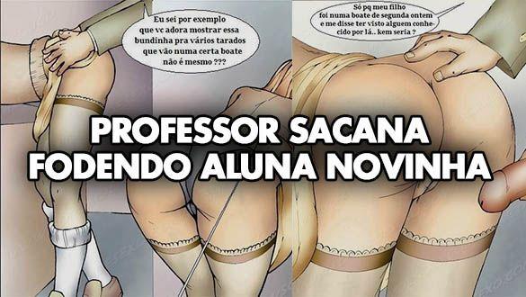 HQ Adulto - Professor sacana fodendo a aluna novinha - Quadrinhos Porno