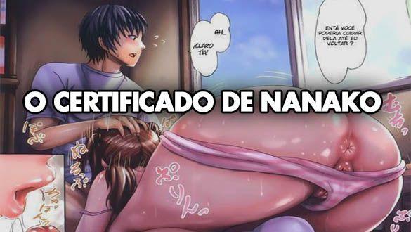 O certificado de Nanako