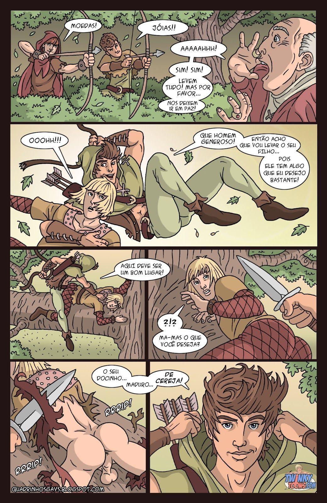 Quadrinhos Gay - A lenda de Robin Hood - HQs Adulto