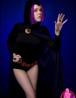 Cosplay Porno – Ravena dos Jovens Titãs pelada