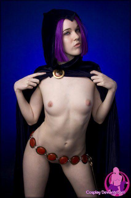 Cosplay Porno - Ravena dos Jovens Titãs pelada