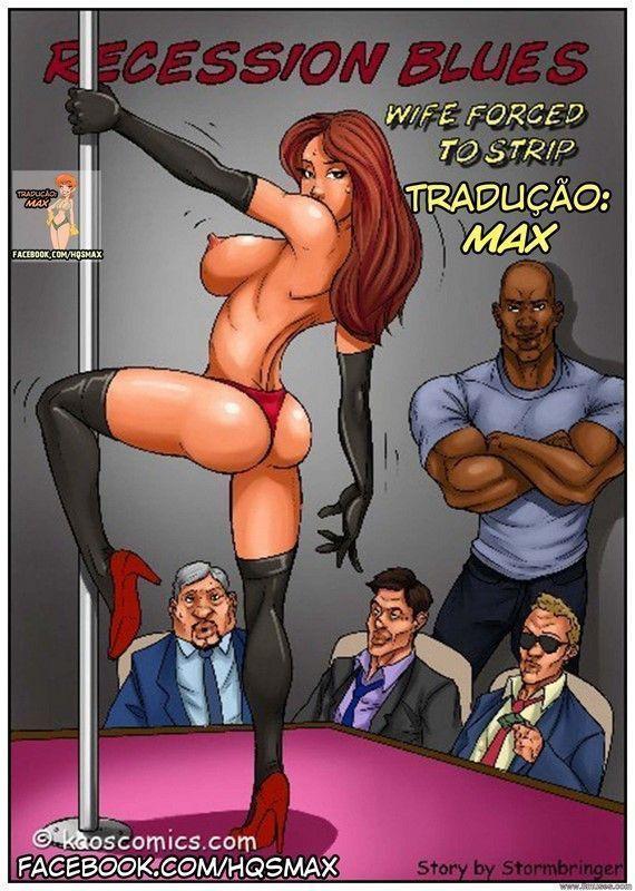A esposa stripper da boate