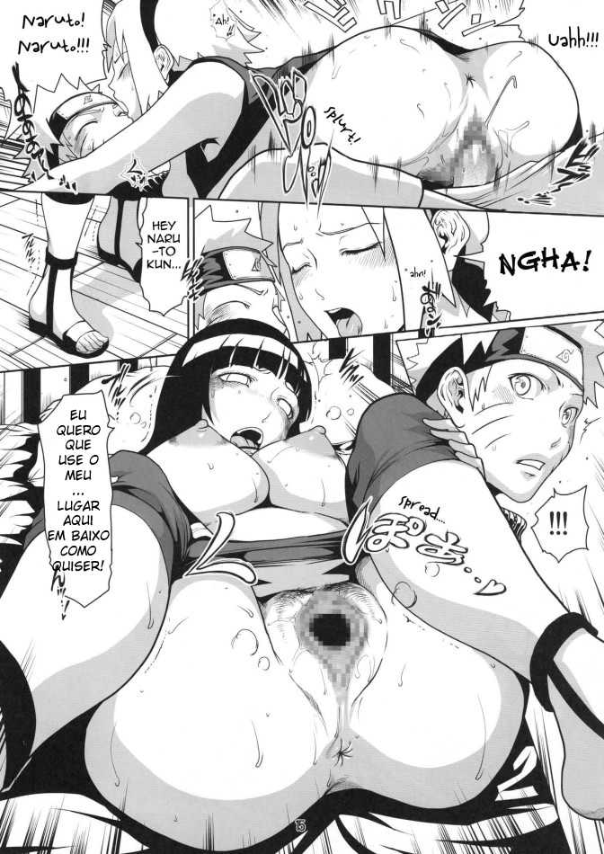 Naruto Hentai - Sakura e Hinata em sexo lésbico