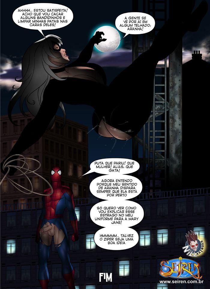 Homem Aranha e Mulher Gato - Sexo a noite da cidade